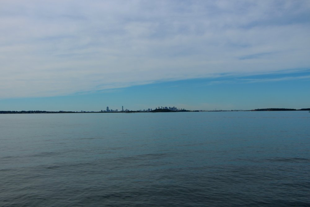 View of Boston from Nut Island, Quincy, MA