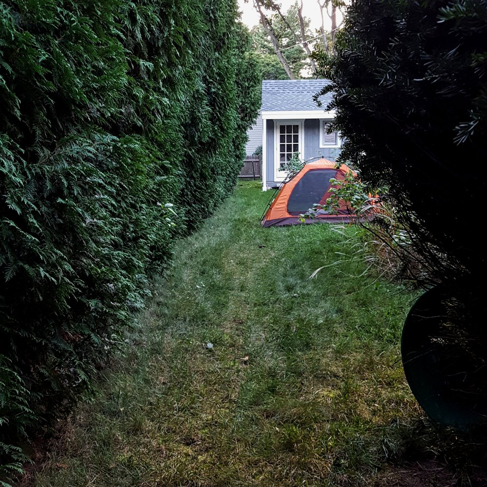 Rhode Island backyard camping