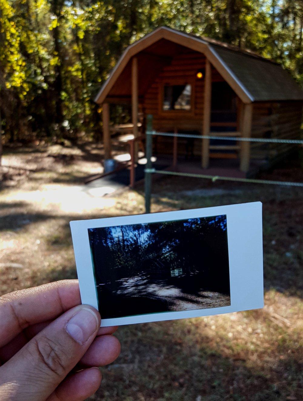Cordele KOA Kabin Polaroid (Double Exposure)