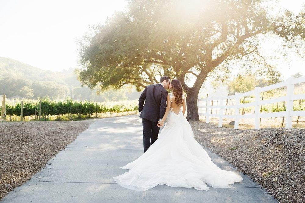 Outdoor Malibu Wedding Garden Driveway