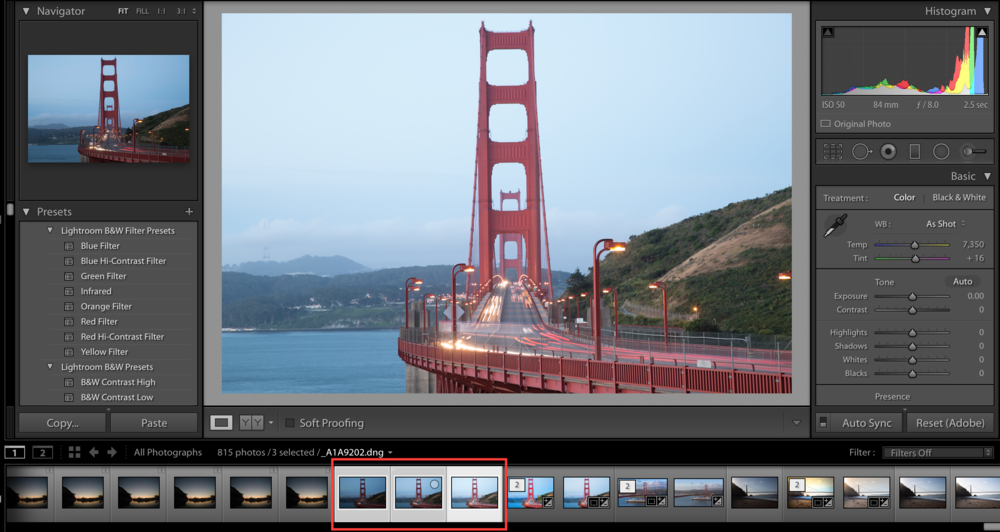 How to Merge HDR in Lightroom