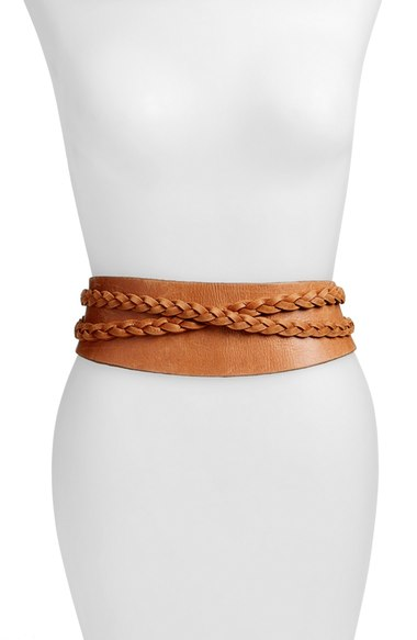 Dakota Braided Leather Wrap Belt