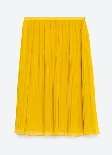 zara pleated yellow skirt.jpg