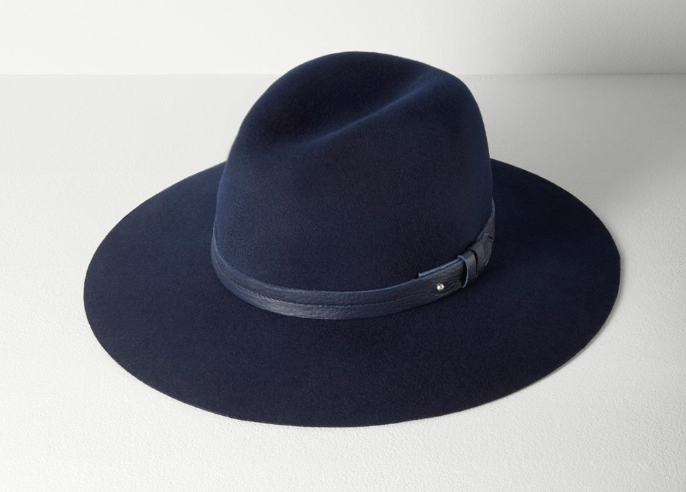 Rag and Bone Navy Fedora