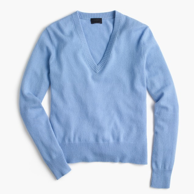 JCREW Italian cashmere easy V-neck sweater