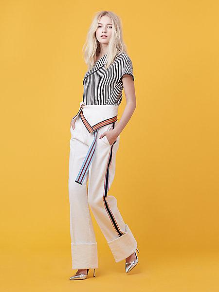 $548 - Diane Von Furtstendberg Wide Leg Ribbon Pant