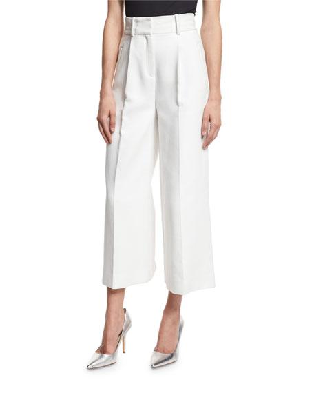 $368 - Diane Von Furstenberg White Pant Culotte