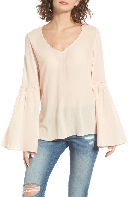 $45 - Ruffle Sleeve Top