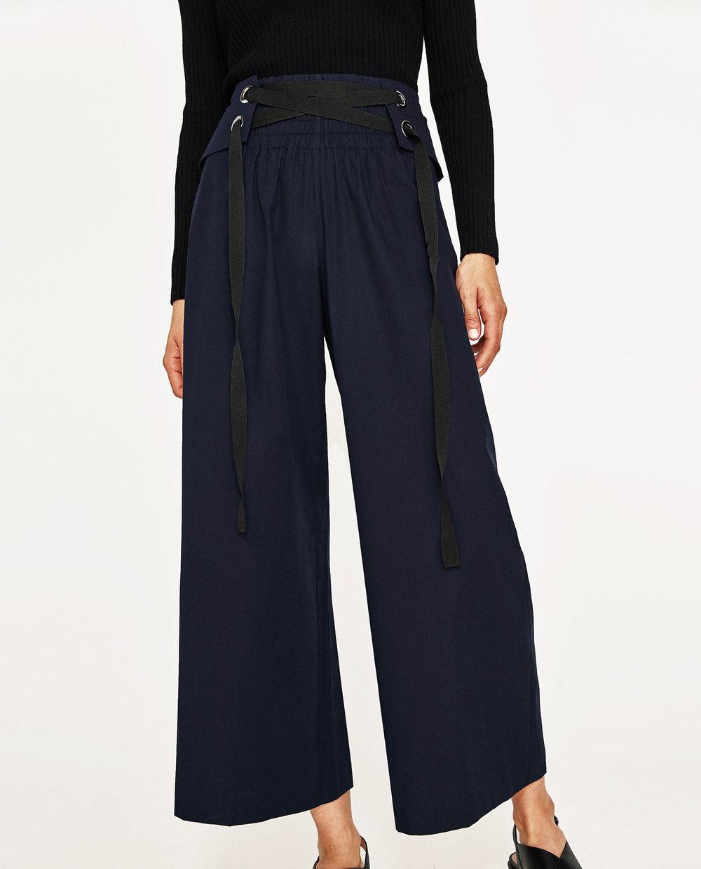 $49.90 - Zara Cropped Corset Belt Trousers