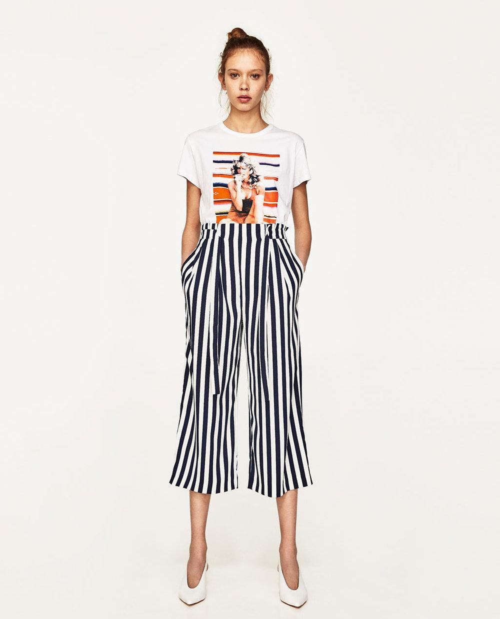 $35.90 - Zara Striped Culotte