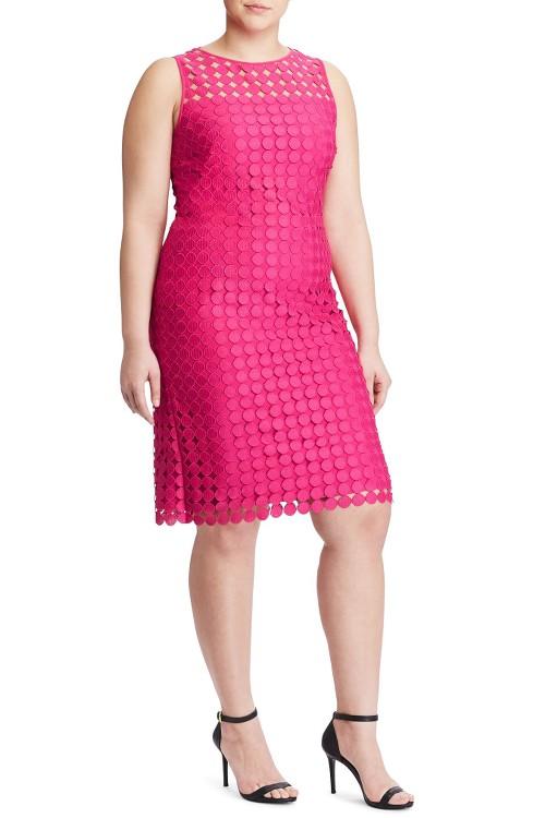 $175 Ralph Lauren Dot Lace Sheath Dress