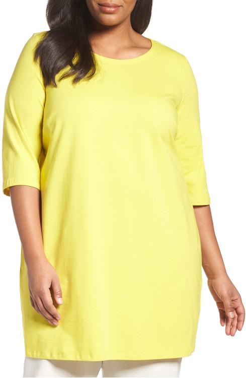 $158 Eileen Fisher Stretch Organic Cotton Jersey
