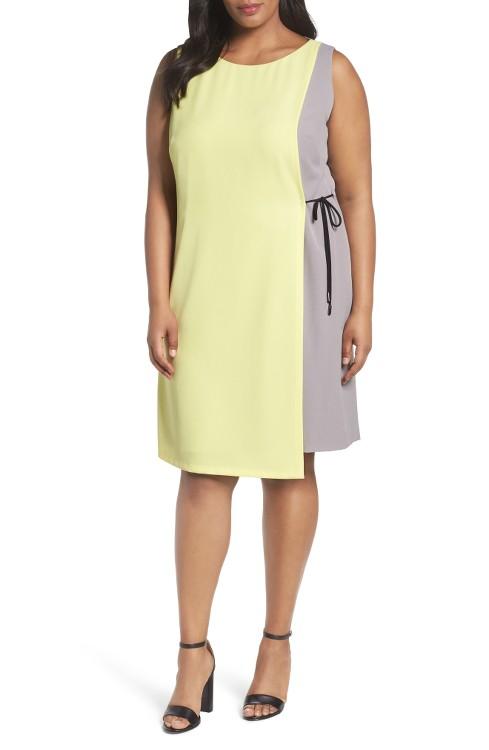 $138 Tahari Asymmetrical Shift Dress