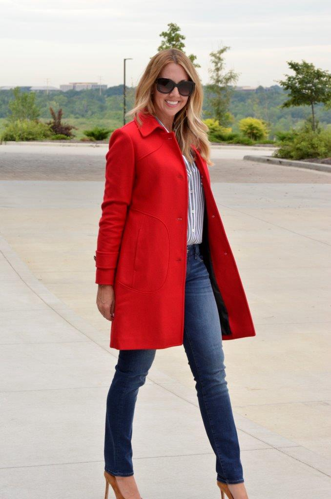 The red Ferrari coat