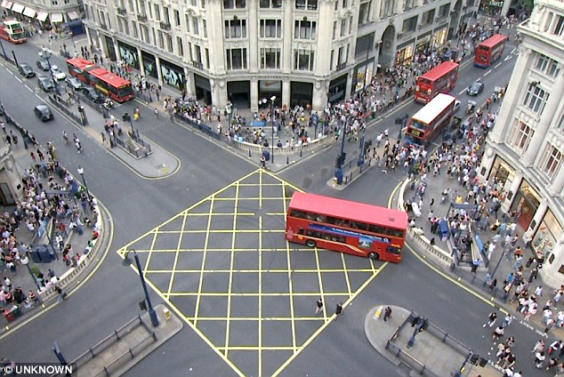 Oxford Circus, London before...