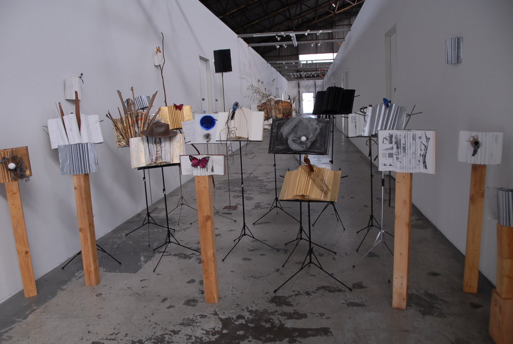 INSTALLATION VIEW OF PAROLE AL VENTO