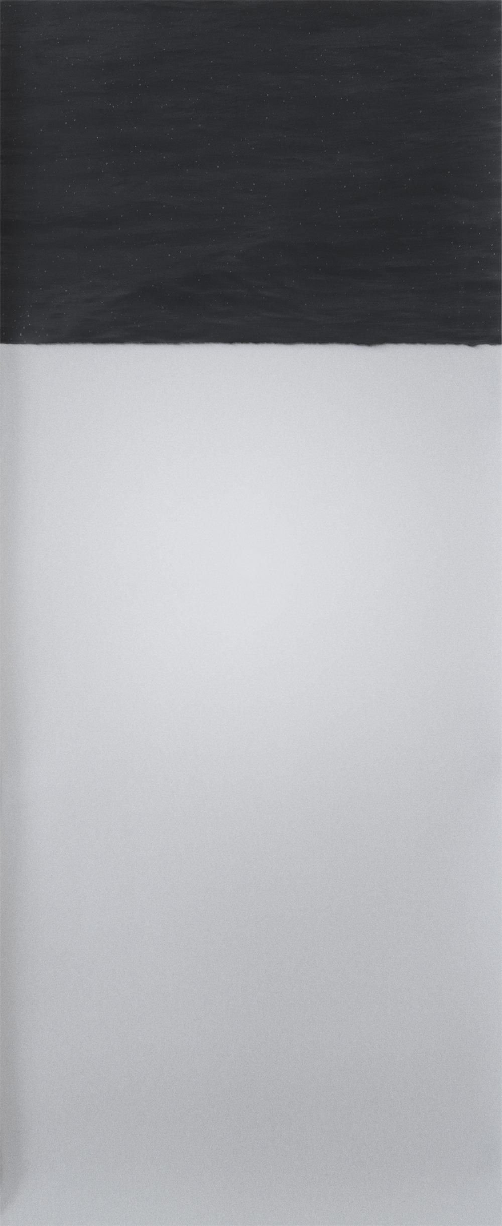 "Day/Night, 2017 Archival Pigment Print/Graphite, 18"" x 45"" $2,500"