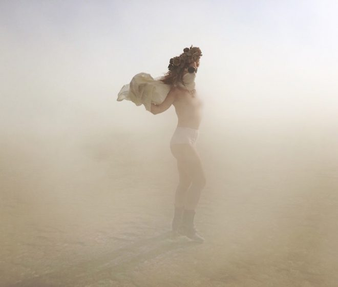 Dancing with my shadows at Burning Man