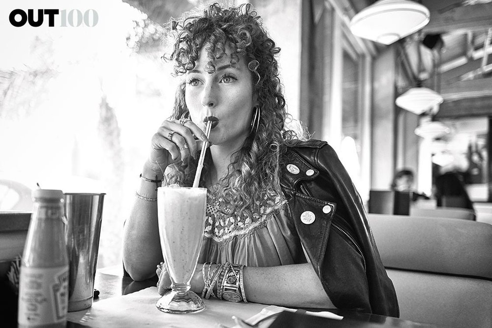 Photography by Gavin Bond. Hair + Makeup: Terri Apanasewicz for Exclusive Artists. Photographed at Mel's Diner, Hollywood, Calif., on October 11, 2016.