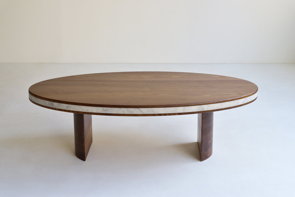 LAYERED OVAL COFFEE TABLE  $3,200