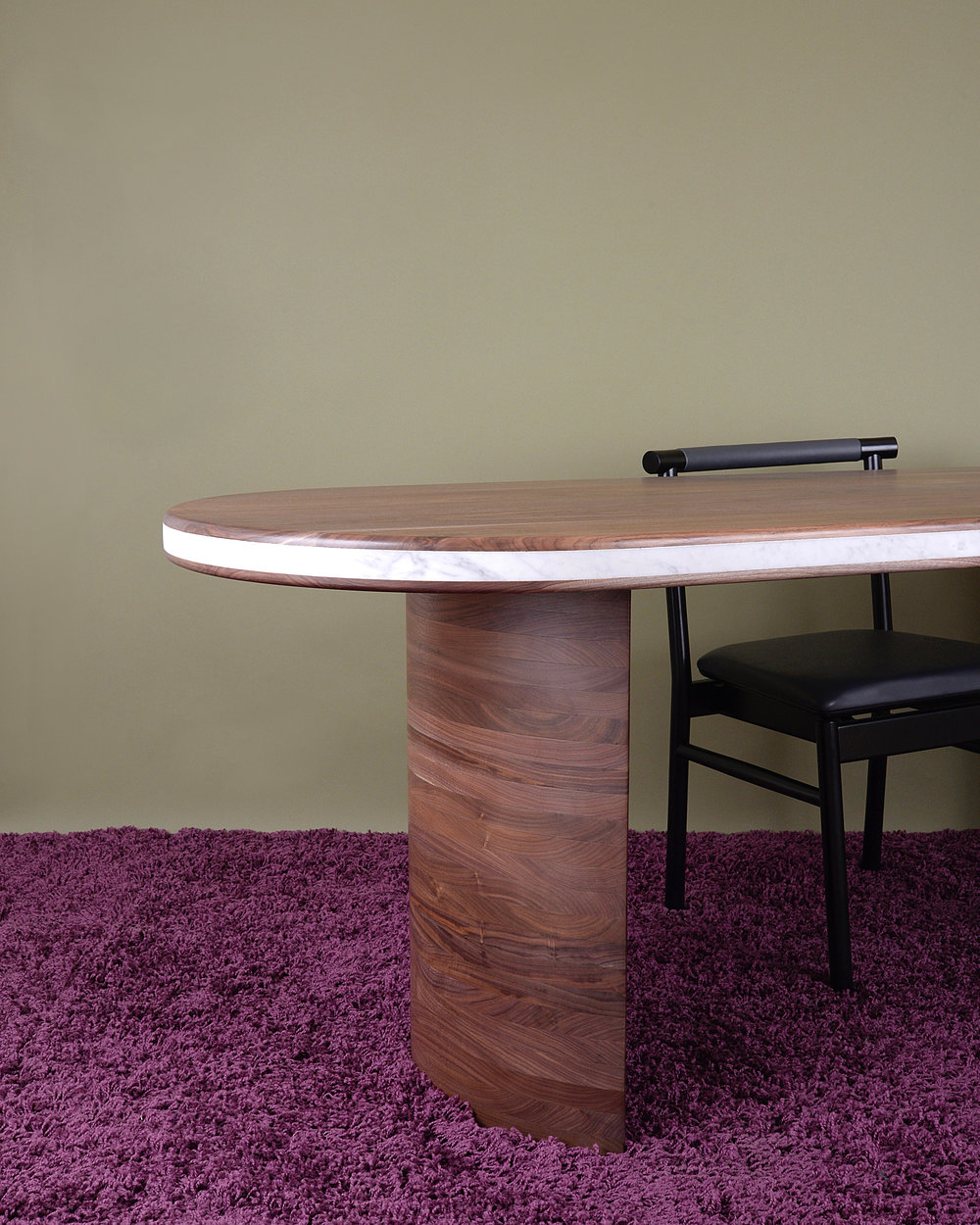 LAYERED OVAL DINING TABLE  $7000