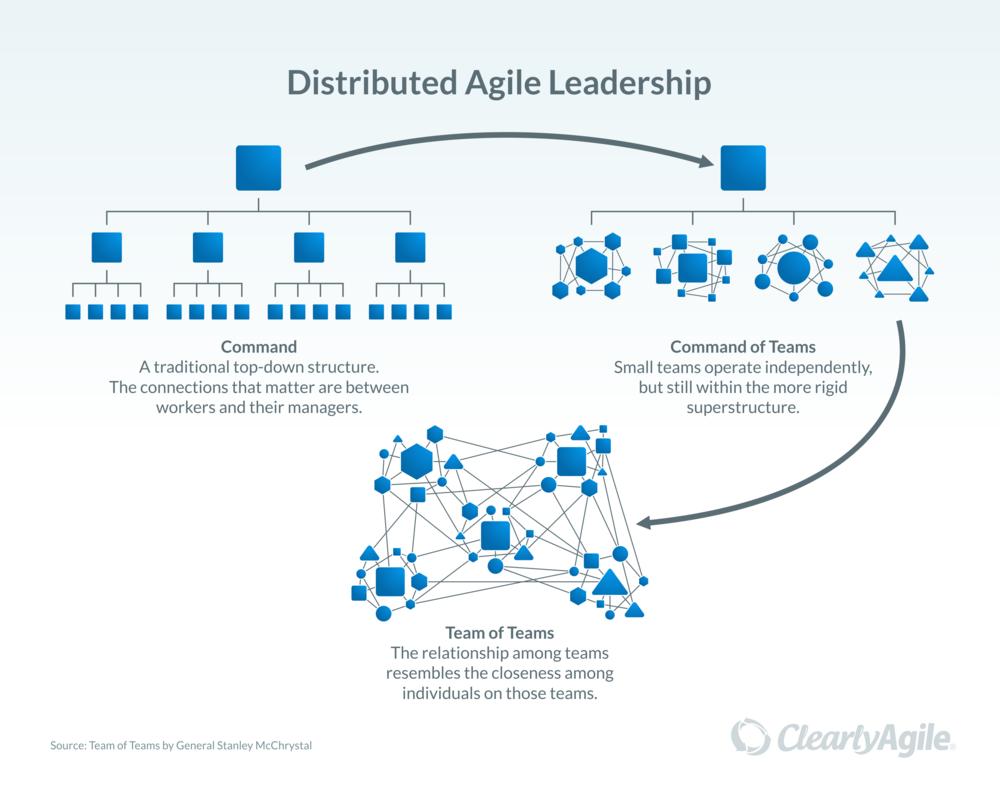 Agile leadership distribution