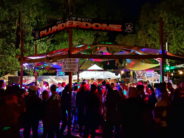 ... were surrounded by arguably the largest swath of patrons. Their  Plunderdome venue is a popular spot not only because of the dare-filled nude  ...