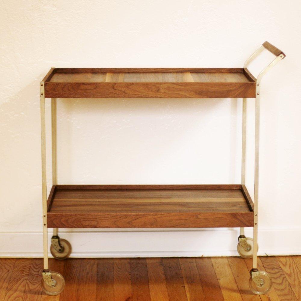 Walnut Bar Cart