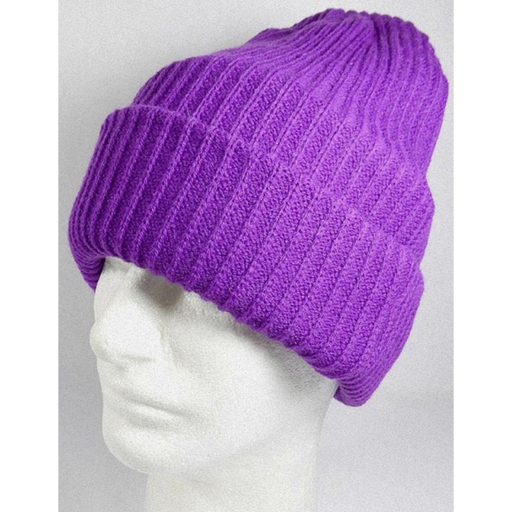 Signature Purple Wool Beanie