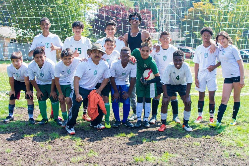U15 Team before their Summer Finals game 2018
