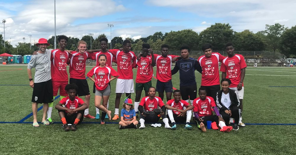 PCFC World Cup team at the Portland Parks and Rec. World Cup Tournament, Summer 2018