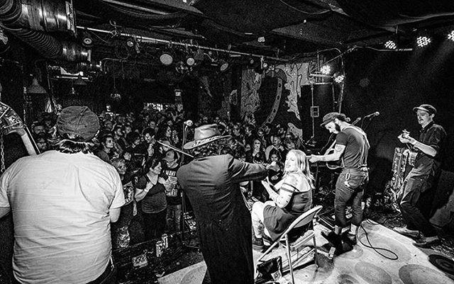 Thanks, friends. ⚡️ 📸: @bindphotography ⚡️ #bridgecitysinners #lightninluke #folkmusic #folkpunk #blackandwhite