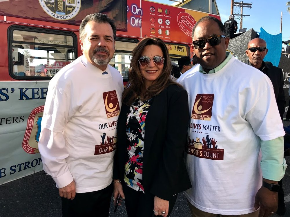 CEO Carlos Rincon and Wife Amparo Rincon with Supervisor Mark-Ridley Thomas