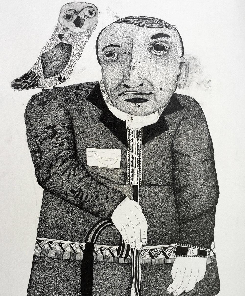 Luis Buñuel with Owl, 2016