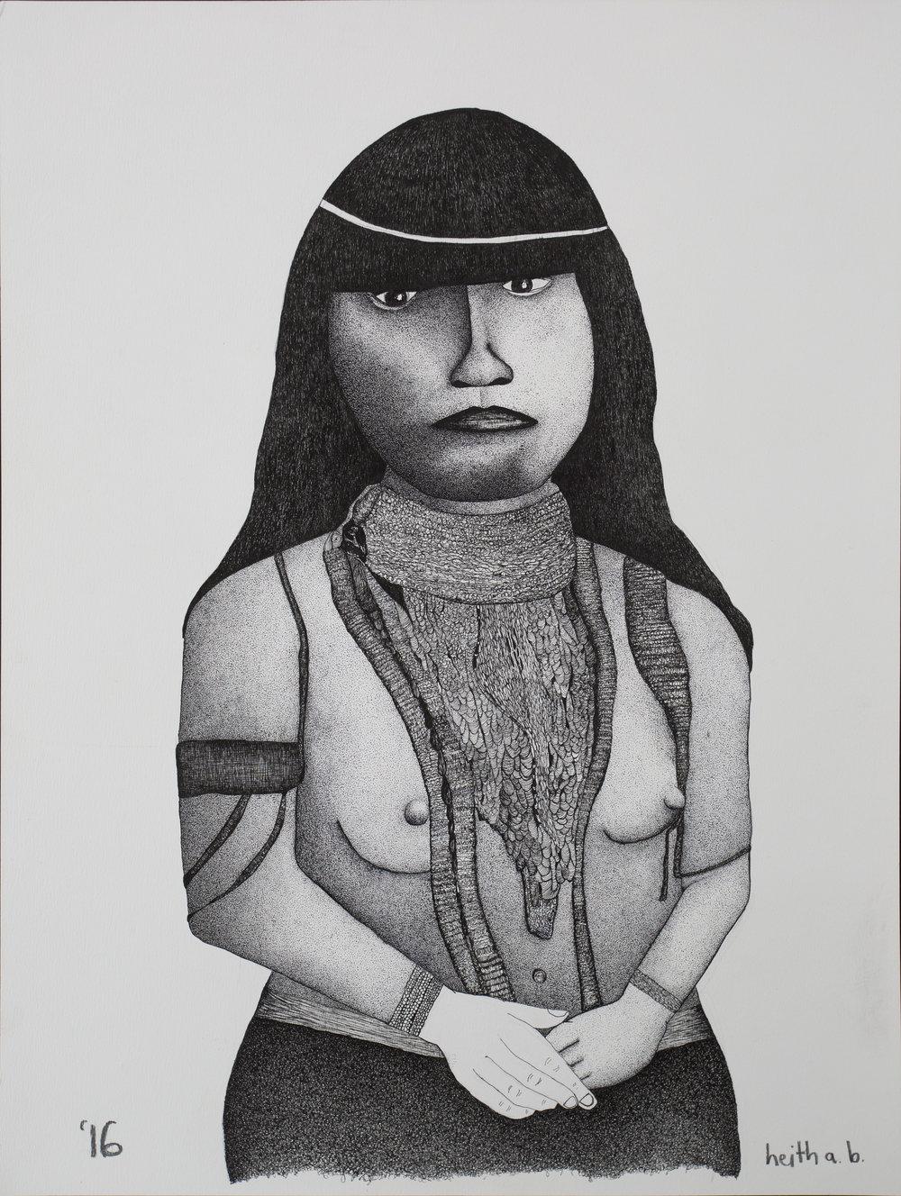 Portrait of a Maricopa Woman, 2016