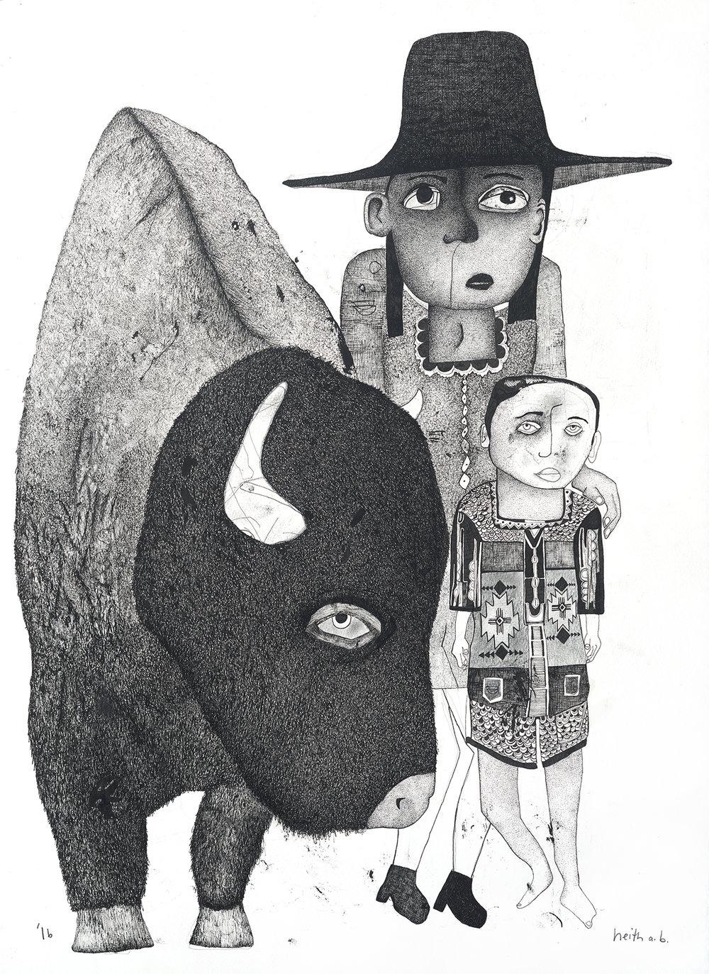 Boy with Buffalo, 2016