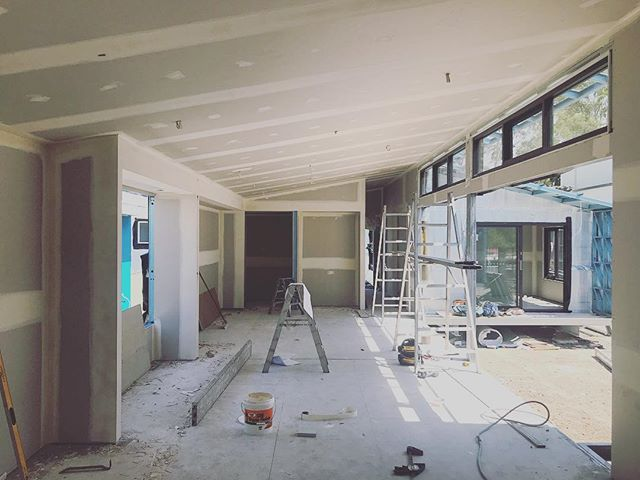 Kitchen, Dining and Living room starting to take shape in our Cowra project.