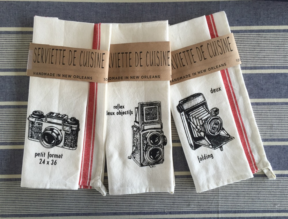 tea towels 3 camera set