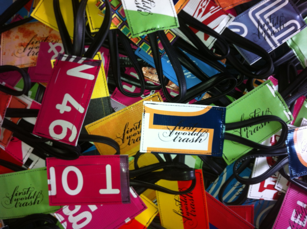 recycled luggage tags