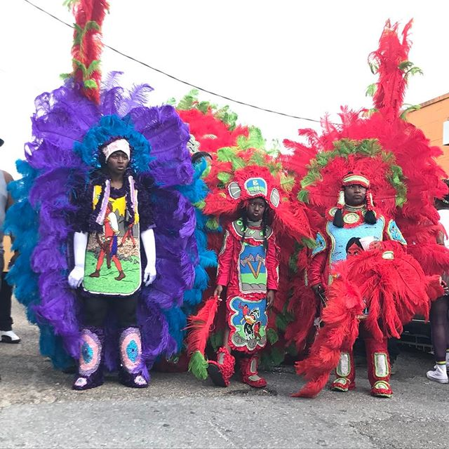 So Good! #mardigras2017 #mardigrasindians #nola #myneighborhood #7thward #feathers #youth #tribe #tradition #family #friends