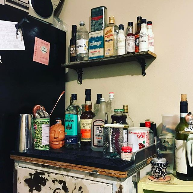New bar shelf! by @jneezy504 of @firstworldtrash #iusedtobeafence #booze #alter
