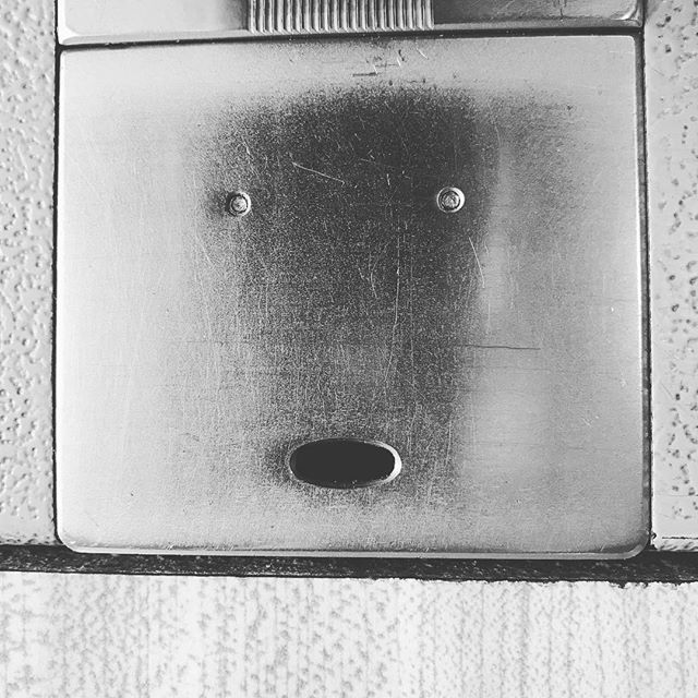Anyone else see faces everywhere? #pareidolia #sewing #ohhhhhhh #eyes #look #looks #robot #face #faces #lookatme #lookin #everwhere