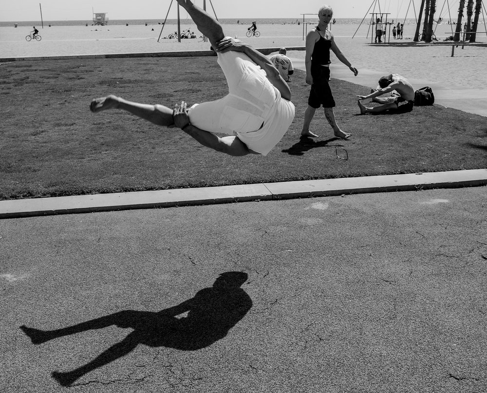 Gymnasts at Muscle Beach, Santa Monica. Shot with Fujifilm X100S.