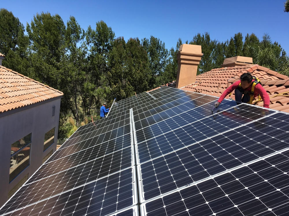 MISSION VIEJO, CA - 28 high efficiency PV modules total to 7.8 kWDC in Mission Viejo, CA.  The system was commissioned in 2016.  The system is estimated to save the home owner $150,000 in electricity bill over 25 years.