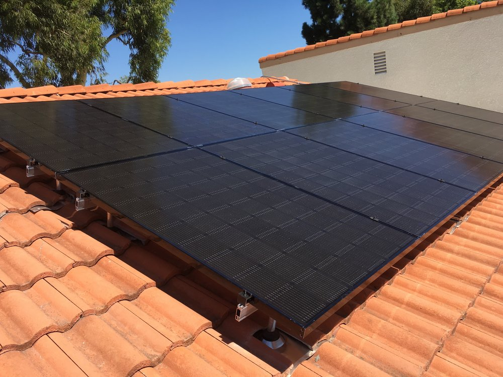 LAGUNA WOODS, CA - 12 high efficiency PV modules total to 3.6 kWDC in Laguna Woods, CA.  The system was commissioned in 2016.  The system is estimated to save the home owner $19,000 in electricity bill over 25 years.