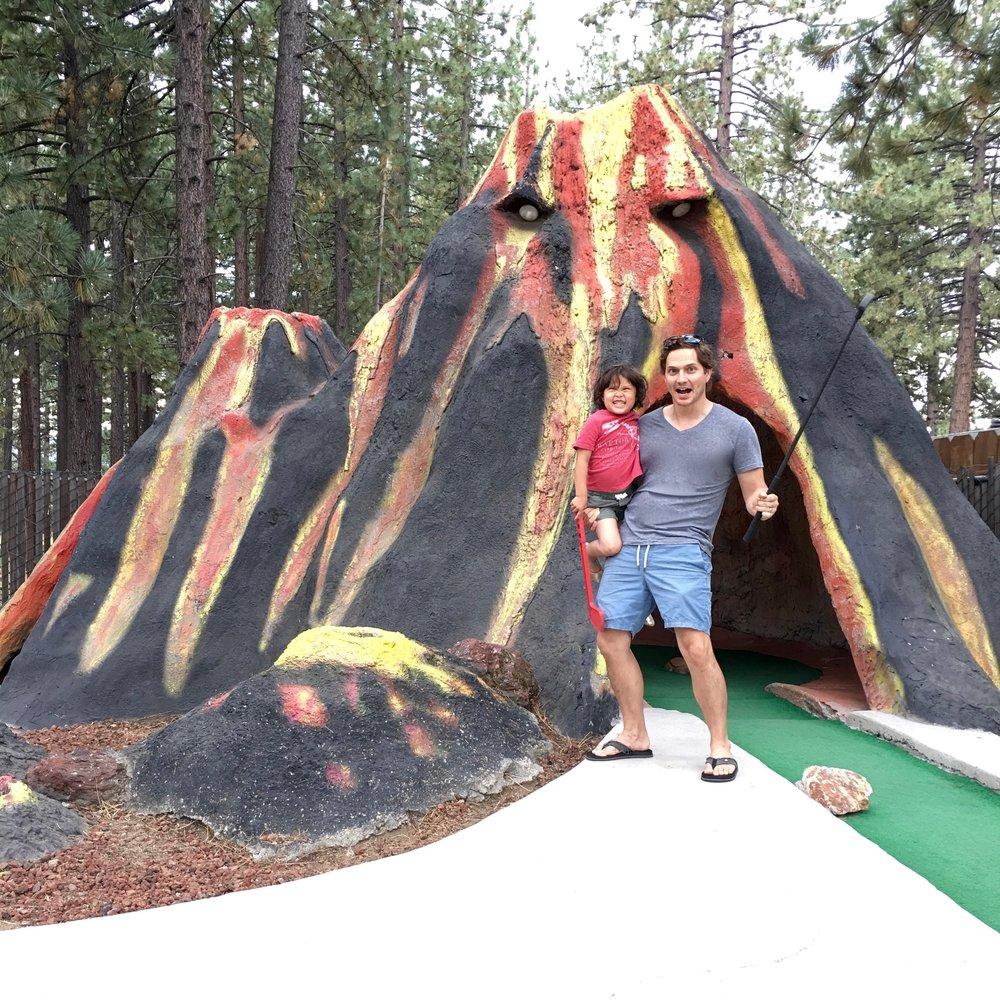 Evil volcano hole eats your ball!