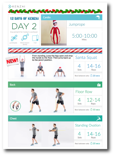 Today's new exercise: Santa Squats!