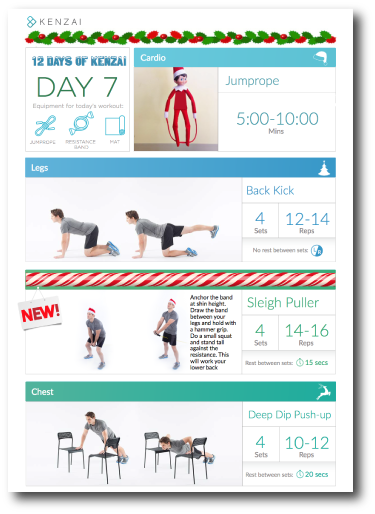 Today's new exercise: Sleigh Puller