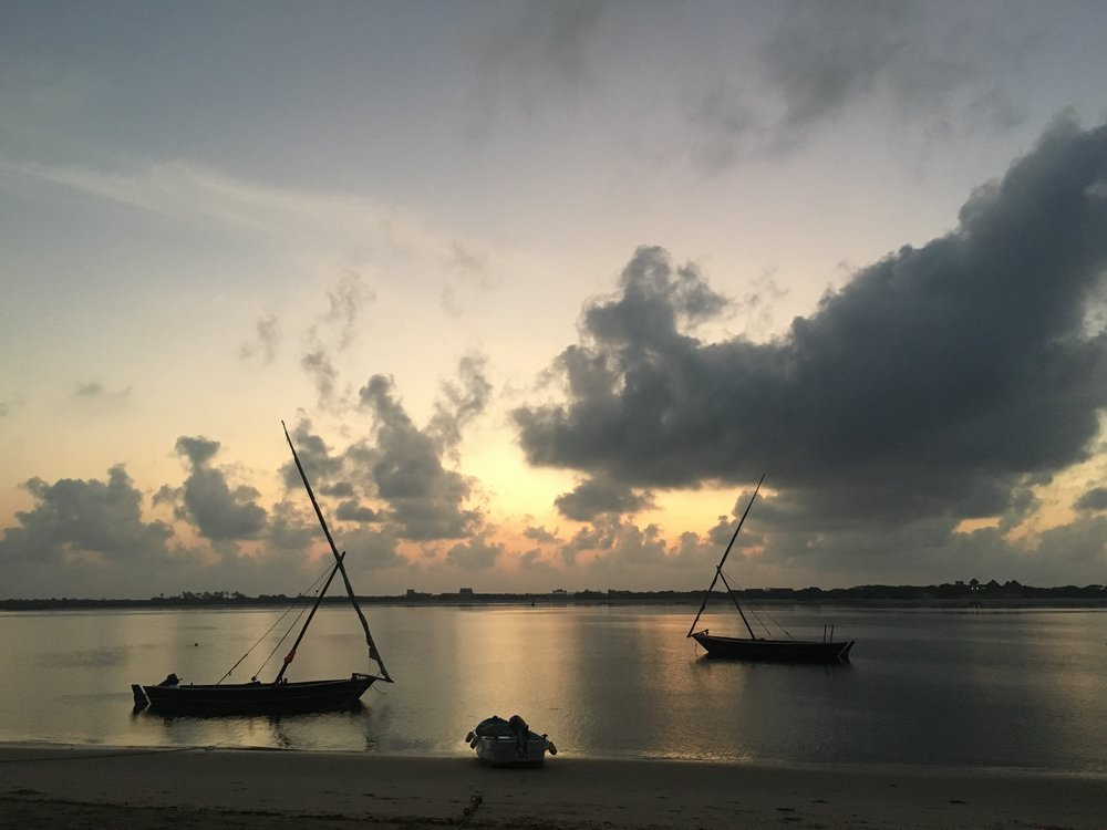 sunrise in Lamu