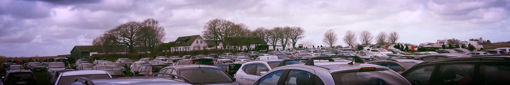 Paddocks turn into sprawling carparks.  Largely orderly.  Until everyone wants to leave at the same time that is.